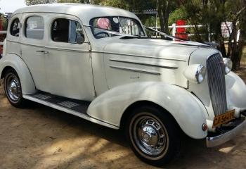 1936 Chevrolet Sedan (white)